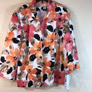 Alfred Dunner Blazer Jacket Size 22W NWT Floral
